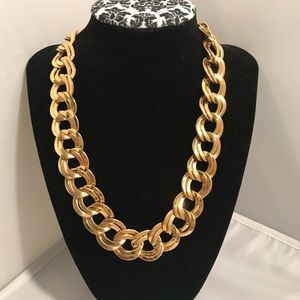 """Jewelry - 17 to 19"""" Necklace heavy gold double links flat"""
